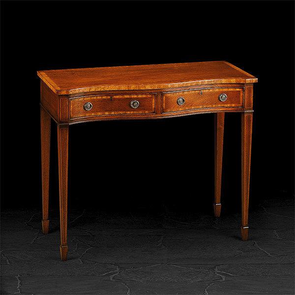 serpentine mahogany console table john dick son