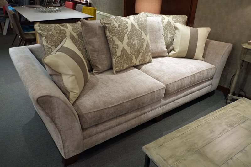 Buckingham 4 seater pillow back sofa john dick son for Perez 4 seater pillow back sectional sofa