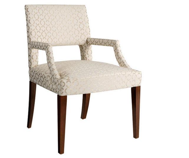 Elegant upholstered dining chair john dick son for Elegant upholstered dining chairs