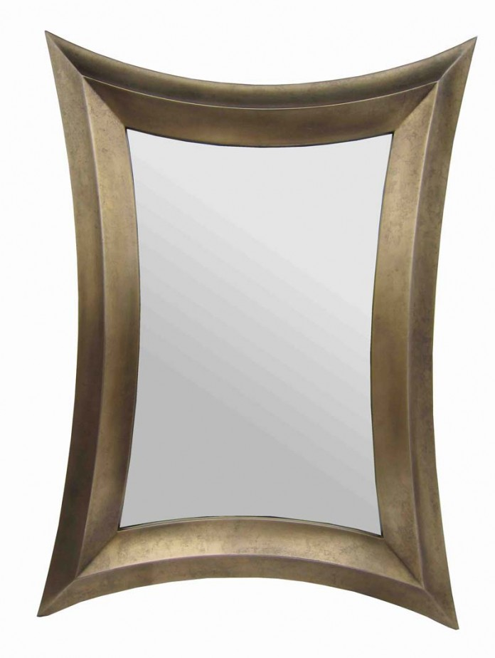 Bronze Distorted Rectangle Mirror