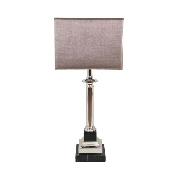 Marble and Steel Table Lamp