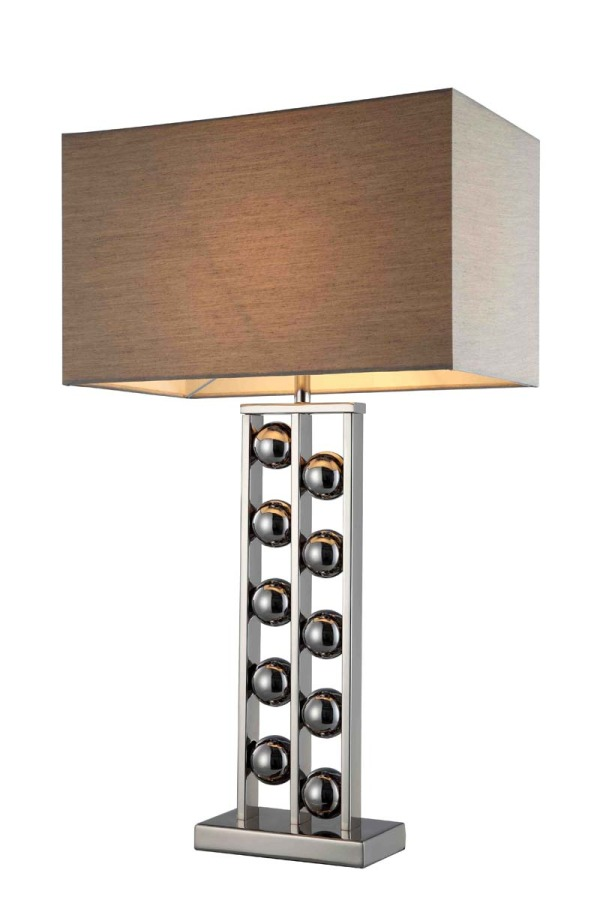 Steel Ball Base Lamp and Shade