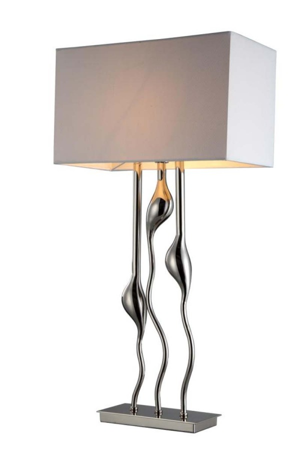 Triple Stem Lamp and Shade