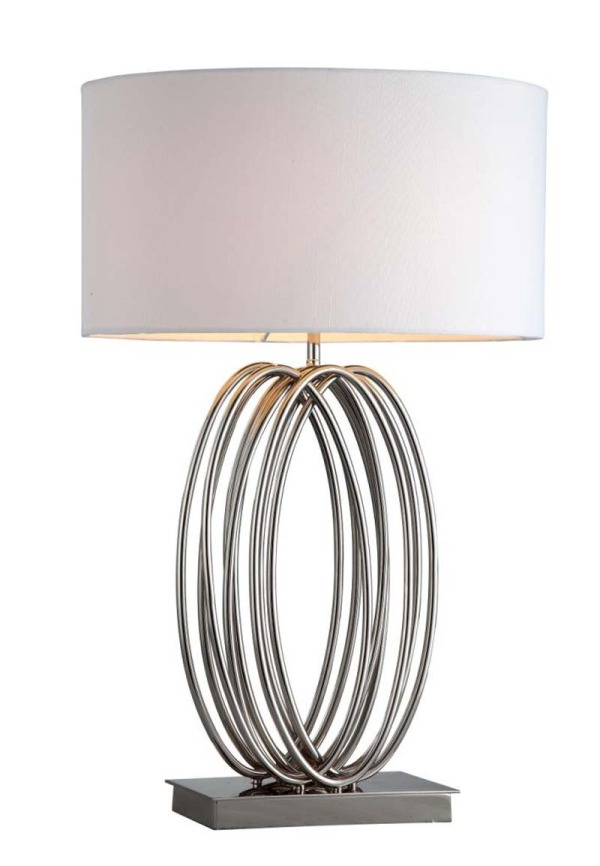 Chrome Looped Table Lamp