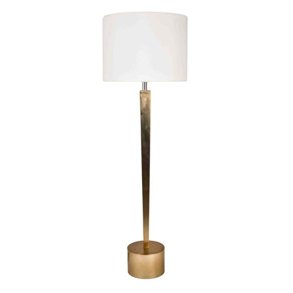 Bronze Leaf Tapered Table Lamp
