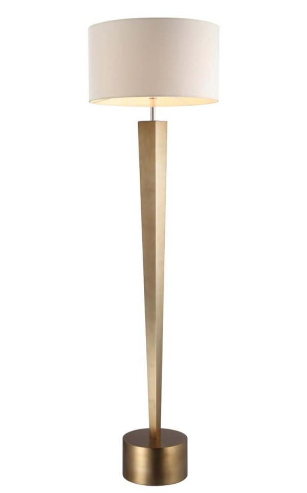 Bronze Leaf Tapered Floor Lamp