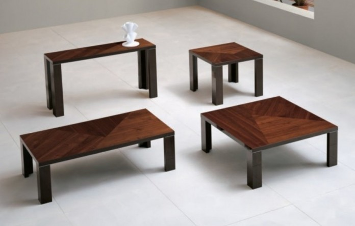 High Gloss Walnut Cocktail Tables