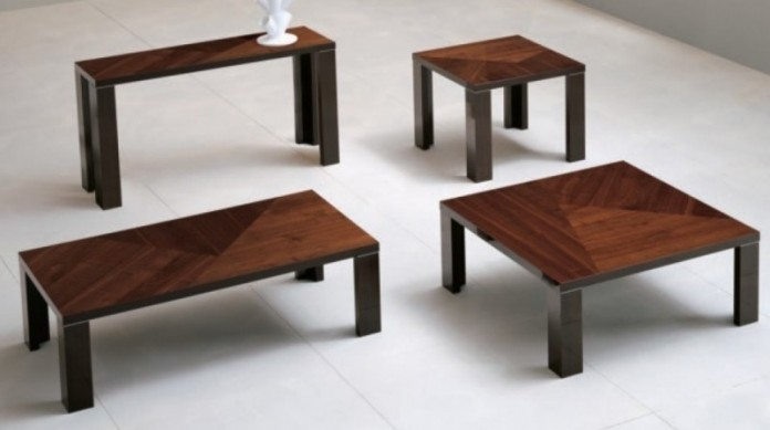 Walnut cocktail tables