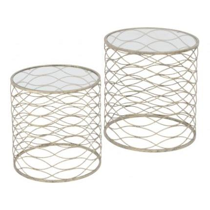 libra gatsby set of 2 gold nesting side tables