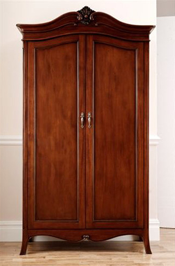 Olivia Mahogany Two Door Wardrobe