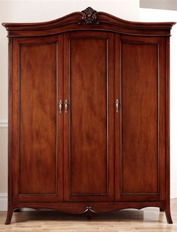 Olivia Mahogany Three Door Wardrobe