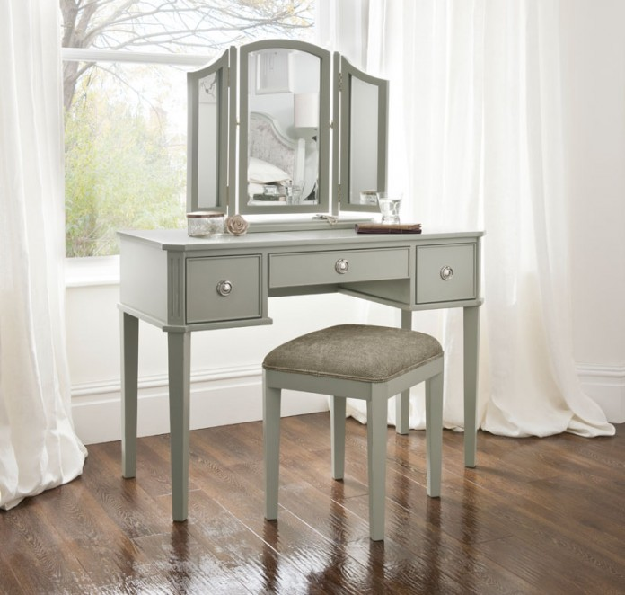 Elegance Dressing Table with Mirror & Stool