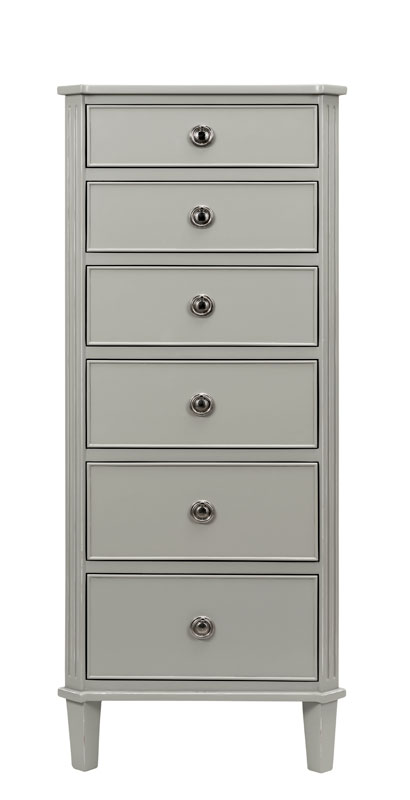 Elegance 6 Drawer Tall Chest, Front View