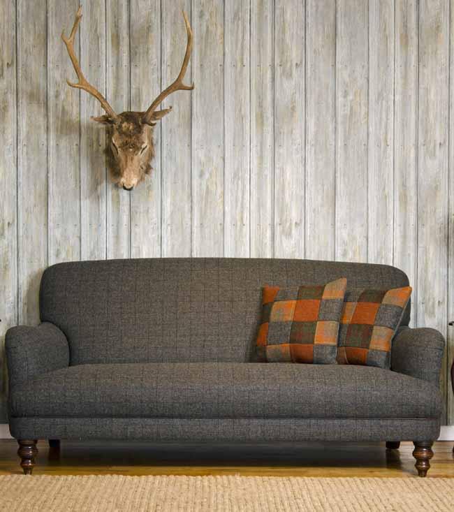 Braemar Sofa in Harris Tweed by Tetrad