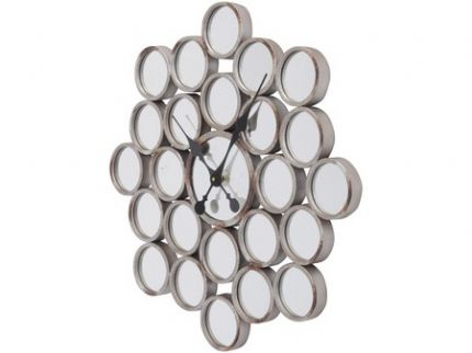 Bubbles Mirror Wall Clock