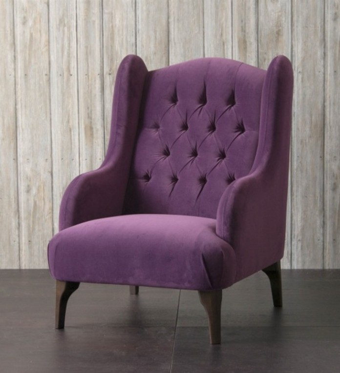 Buckingham Chair in Tate Velvet Blackberry