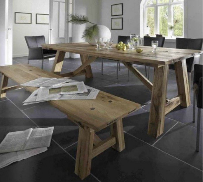 Castle Table, here shown in Solid Oak