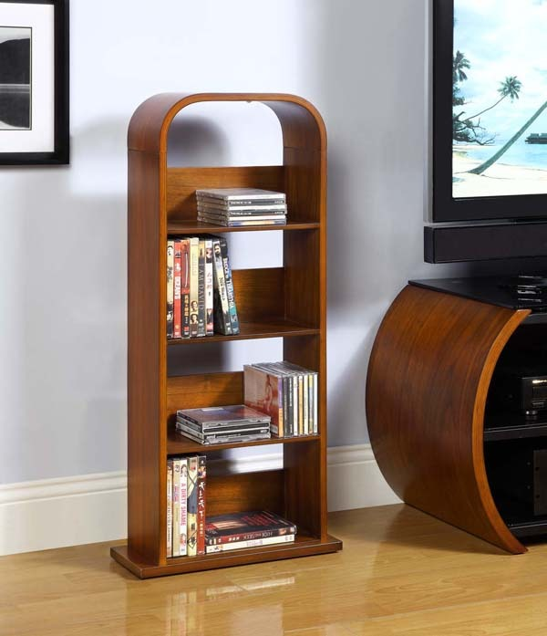 Walnut DVD shelf