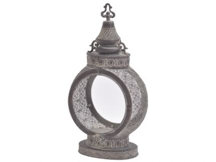 Geraldine Large Round Filigree Metal Lantern