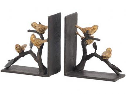 Ortolan Golden Songbird Metal Bookends