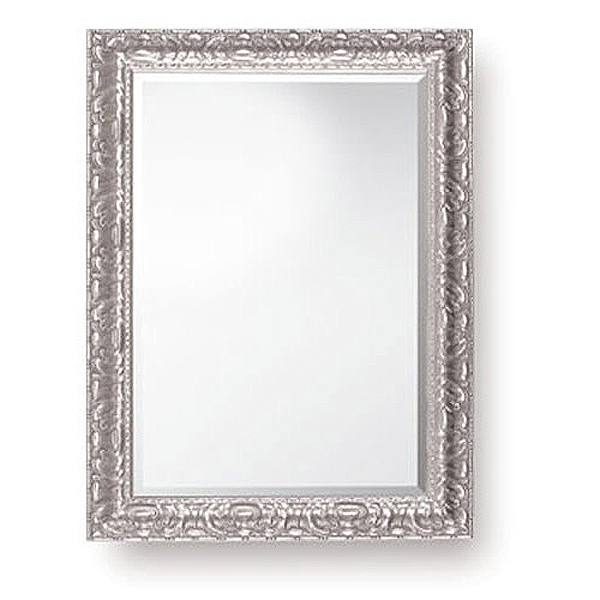 Patterned Silver Mirror