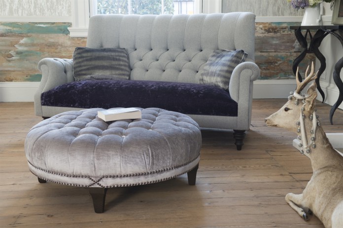 Holkham_Sofa_in_Milligan_Silver_and_Du_Barry_Velvet_Iris_with_Boothby_Round_Ottoman_in_Ibsen_Velvet_Violet_Grey_3