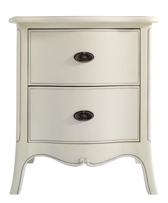 Isobel Two Drawer Bedside Cabinet