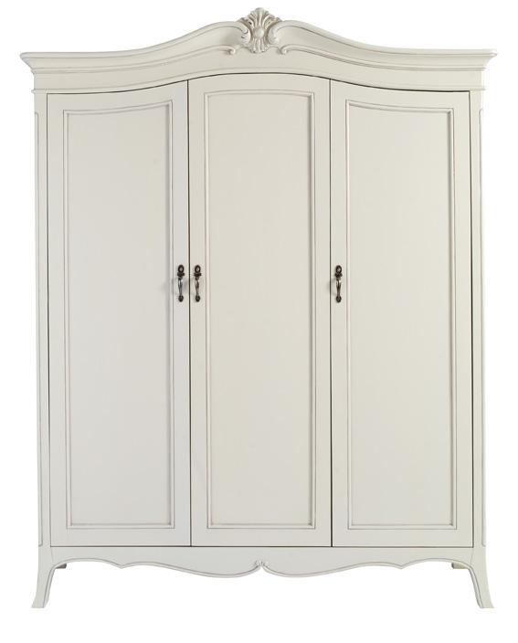 Isobel White Three Door Wardrobe