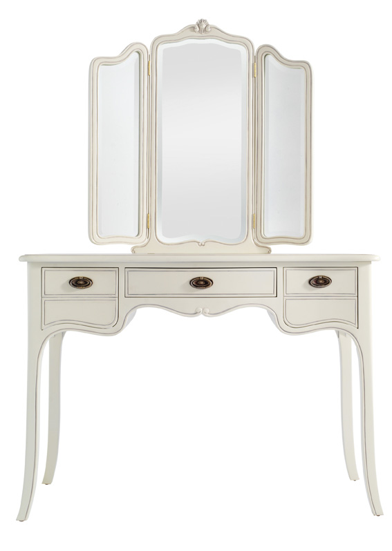 Isobel White Dressing Table with Mirror