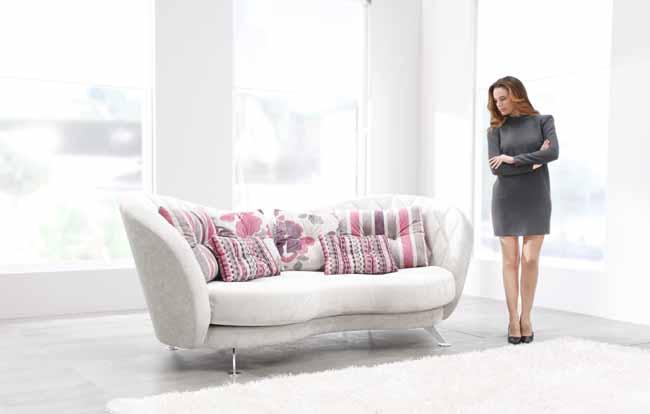 Josephine Leather Sofa by Fama