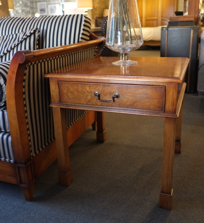 burr oak side table
