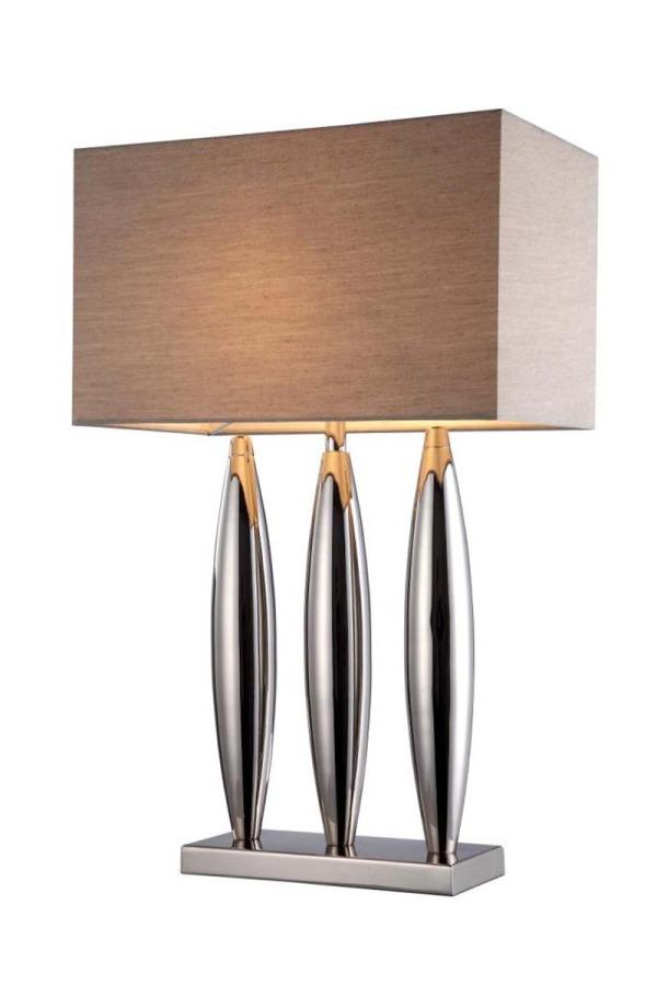 Three Pillared Lamp & Shade