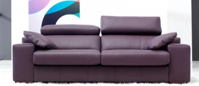lotus leather 3 seater sofa