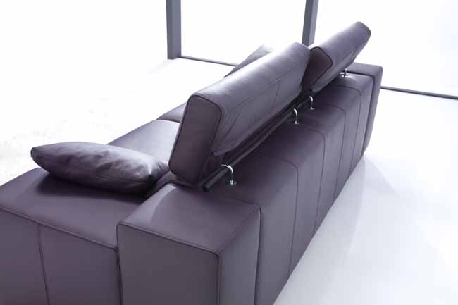 Lotus Leather Sofa by Fama