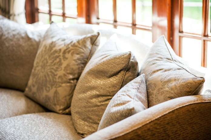 Flower Patterned Light Green Upholstery
