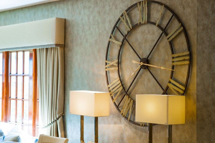 Large Wall Clock on Display at Glasgow Showroom