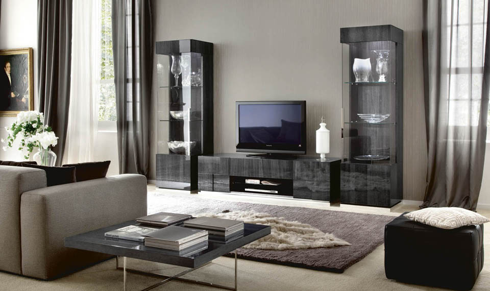 Montecarlo Tv Base Unit With Display Cabinets John Dick Son