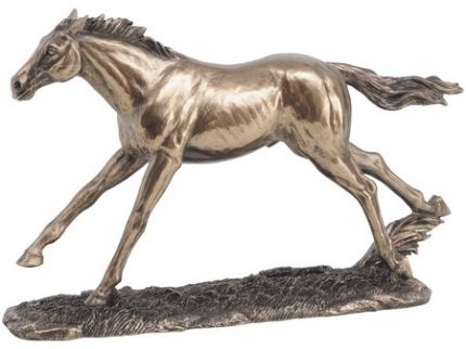 Decorative newmarket galloping horse