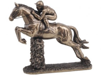 Newmarket Jumping Horse and Rider Ornament