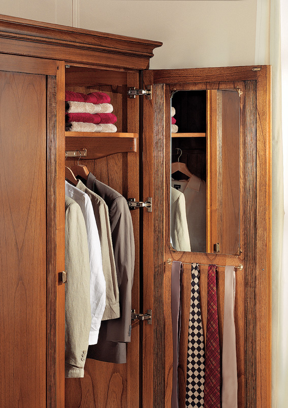 Inside Ocaso Ash 2 door Wardrobe