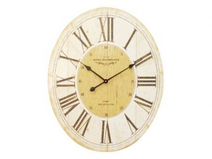Parisienne Wooden Wall Clock with Roman Numerals