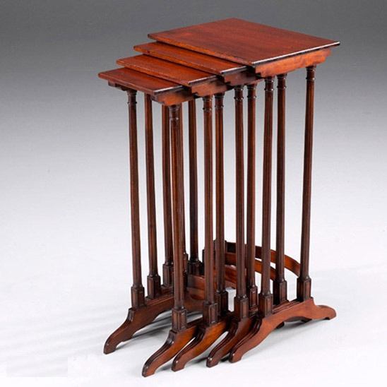 Tall Mahogany Nest of Tables