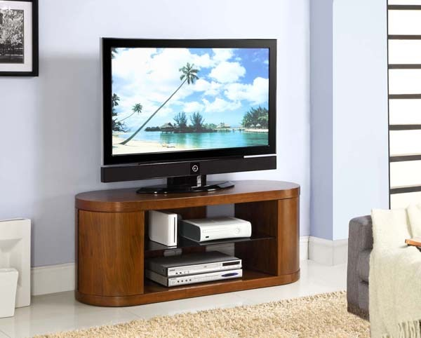 Curve End Television Stand