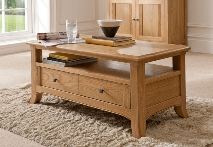Oak coffee table, part of the Toledo range