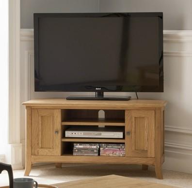 Toro oak corner TV unit