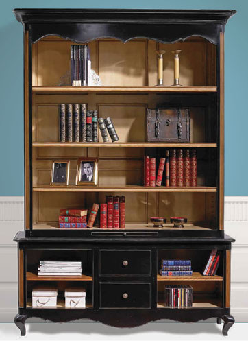 Painted Bookcase Display Unit