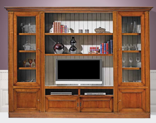 Large Cherry Wall Unit