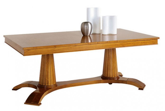 Columned Rectangular Dining Table