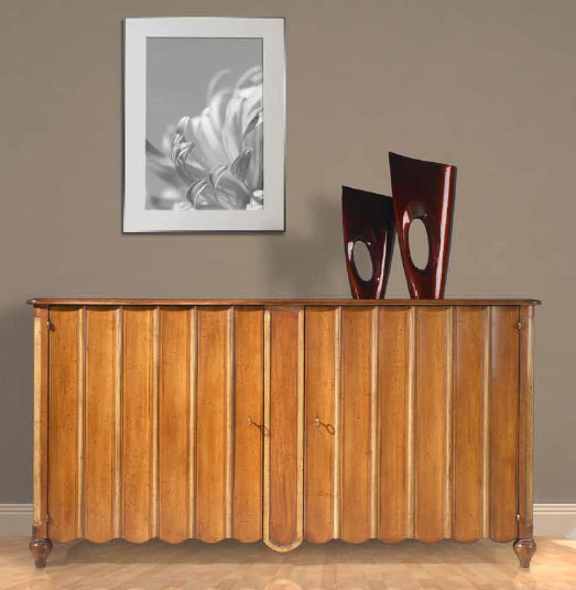 Hand Painted Sideboard with Scalloped Panels