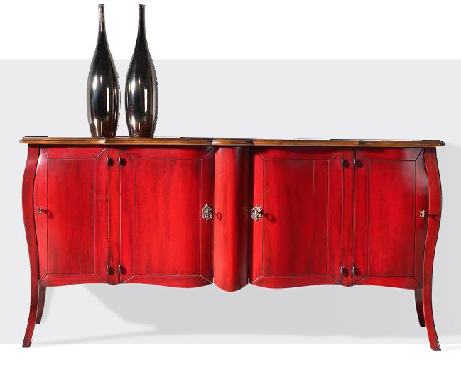 Shaped Hand Painted Sideboard